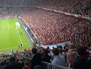 Bayern Fans in the crowd