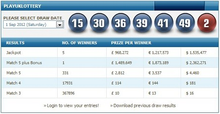 uk lottery results